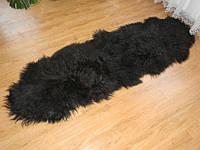 Ковер из черной исландской овчины, из 2-х шкур