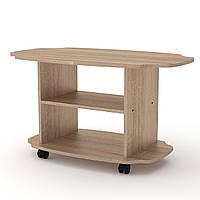 Журнальный стол для книг и газет Твист, мобильный кофейный столик 1000х600х546 мм (Компанит)