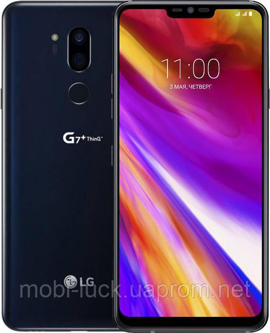 Смартфон LG G7+ ThinQ 6/128GB Aurora Black Refurbished