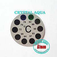 Термометр наружный Наклейка, круглый, фото 1