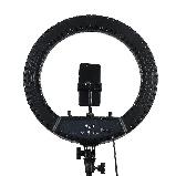 Профессиональная LED светодиодная кольцевая лампа 45 см HQ-18 со штативом (0,7-2м) ЛЕД кольцо для селфи, фото 5