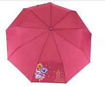 Складана парасоля / Складної парасолька напівавтомат / напівавтомат, малиновий, поліестер/карбон Арт.793 Fiaba (Китай) (Жіночий малиновий парасолька напівавтомат
