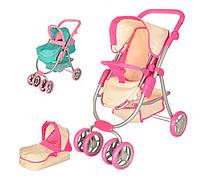 Игрушечная коляска для кукол и пупсов 2 в 1 (прогулочная, с люлькой) 55 * 31 * 67 см коляска трансформер