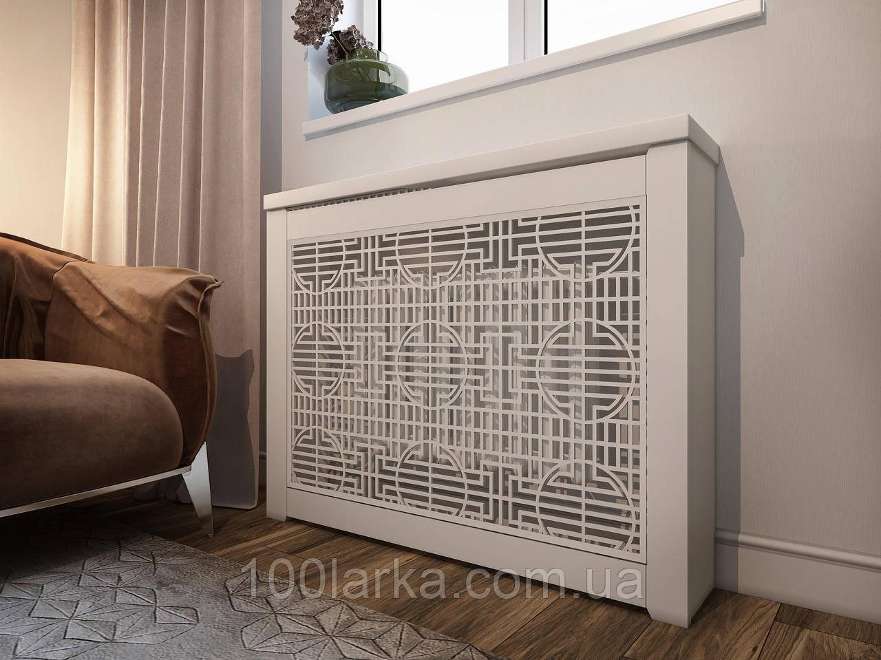 Декоративна решітка екран (короб) на батарею опалення R111-K60