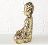 Фигурка Будда из полистоуна золото h30см, фото 2