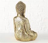 Фигурка Будда из полистоуна золото h30см, фото 3