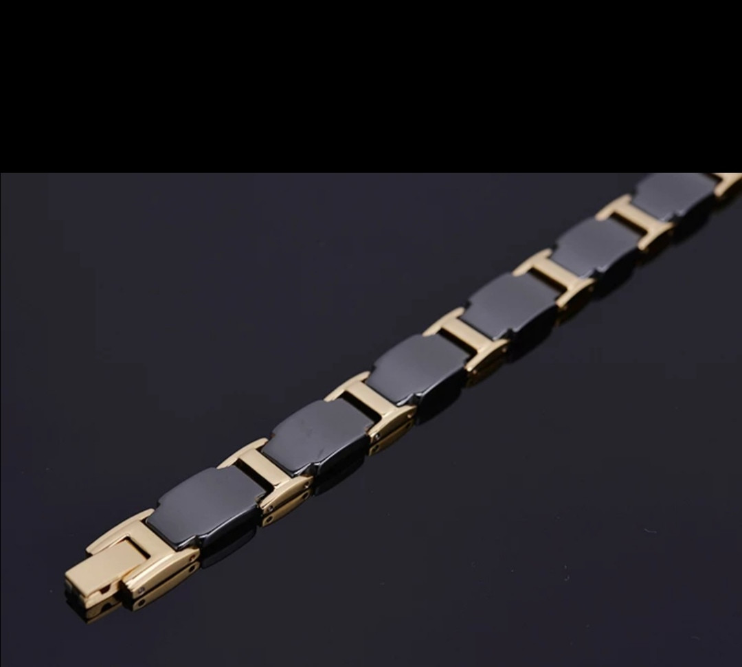 Магнитный браслет с керамический с Германием из медицинской стали