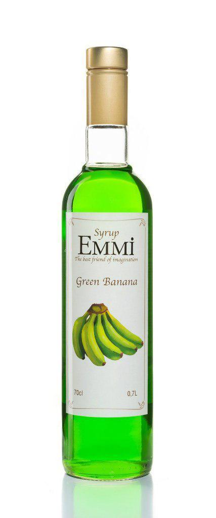 Сироп для кофе Зеленый банан  Розница ОПТ 700 мл