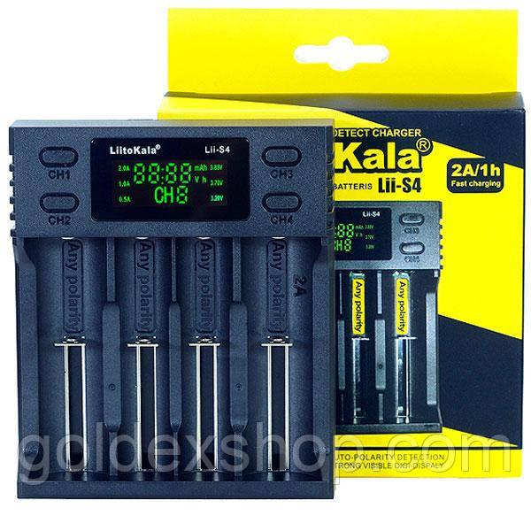 Зарядное устройство LiitoKala Lii-S4 на 4 аккумулятора AA, AAA, 18650, 16340, 14500, 18350, 26650 и др.