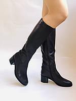 Женские осенне-весенние сапоги на среднем каблуке. Натуральная кожа. Люкс качество. Molka. Р. 37.38.40, фото 8