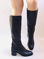 Женские осенне-весенние сапоги на среднем каблуке. Натуральная кожа. Люкс качество. Molka. Р. 37.38.40, фото 6
