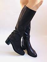 Женские осенне-весенние сапоги на среднем каблуке. Натуральная кожа. Люкс качество. Molka. Р. 37.38.40, фото 2
