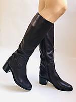 Женские осенне-весенние сапоги на среднем каблуке. Натуральная кожа. Люкс качество. Molka. Р. 37.38.40, фото 3