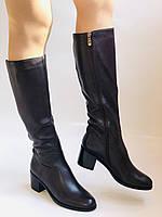 Женские осенне-весенние сапоги на среднем каблуке. Натуральная кожа. Люкс качество. Molka. Р. 37.38.40, фото 4