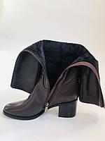 Женские осенне-весенние сапоги на среднем каблуке. Натуральная кожа. Люкс качество. Molka. Р. 37.38.40, фото 10
