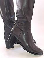 Женские осенне-весенние сапоги на среднем каблуке. Натуральная кожа. Люкс качество. Molka. Р. 37.38.40, фото 9