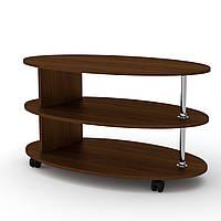 Журнальный стол для книг и газет овальный Соната, мобильный кофейный столик 1000х600х532 мм (Компанит)
