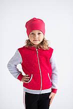 Кофта для девочек - G-20924W_малиновый (рр. 98-122)