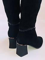 Жіночі осінньо-весняні чобітки на середньому каблуці. Натуральна замша. Nadi Bella. Р. 35, 36, 37, 38, 40, фото 5
