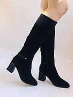 Жіночі осінньо-весняні чобітки на середньому каблуці. Натуральна замша. Nadi Bella. Р. 35, 36, 37, 38, 40, фото 2