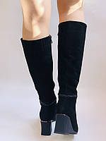 Женские осенне-весенние сапоги на среднем каблуке. Натуральная замша. Nadi Bella. Р. 35, 36, 37, 38, 40, фото 7