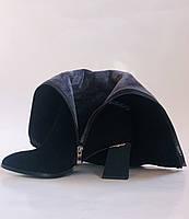 Женские осенне-весенние сапоги на среднем каблуке. Натуральная замша. Nadi Bella. Р. 35, 36, 37, 38, 40, фото 9