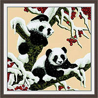 "Вышивка крестиком ""Снежные панды"" 65х65см D028 D028"