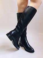 Женские осенне-весенние сапоги на среднем каблуке. Натуральная кожа.Высокое качество. Р. 35.38.39.Molka, фото 4