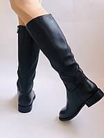 Женские осенне-весенние сапоги на среднем каблуке. Натуральная кожа.Высокое качество. Р. 35.38.39.Molka, фото 6