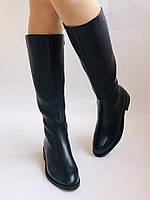 Женские осенне-весенние сапоги на среднем каблуке. Натуральная кожа.Высокое качество. Р. 35.38.39.Molka, фото 2