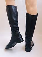 Женские осенне-весенние сапоги на среднем каблуке. Натуральная кожа.Высокое качество. Р. 35.38.39.Molka, фото 8