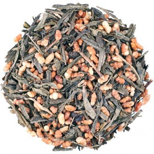 Японский зеленый Чай  Генмайча Райсу крупно листовой Tea Star 250 гр