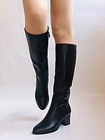 Polann. Женские осенне-весенние сапоги на среднем каблуке. Р 35,36,37,39 40, фото 5