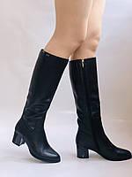 Polann. Женские осенне-весенние сапоги на среднем каблуке. Р 35,36,37,39 40, фото 3