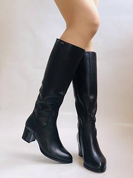 Polann. Женские осенне-весенние сапоги на среднем каблуке. Р 35,36,37,39 40