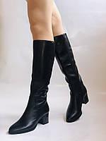 Polann. Женские осенне-весенние сапоги на среднем каблуке. Р 35,36,37,39 40, фото 2