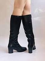 Polann. Женские осенне-весенние сапоги на среднем каблуке. Р 35,36,37,39 40, фото 7