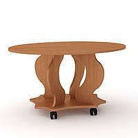 Журнальный стол для книг и газет овальный Венеция, мобильный кофейный столик 900х595х484 мм (Компанит)