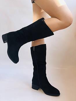 Polann. Зимние сапоги на широкую ногу на натуральном меху. Натуральный замш. Люкс качество. Р. 36. 38 39 40