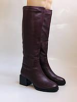 Натуральный мех.Зимние сапоги на среднем каблуке. Натуральная кожа. Люкс качество. Polann. Р. 36-40., фото 4