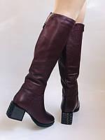 Натуральный мех.Зимние сапоги на среднем каблуке. Натуральная кожа. Люкс качество. Polann. Р. 36-40., фото 6