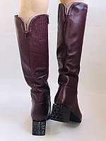 Натуральный мех.Зимние сапоги на среднем каблуке. Натуральная кожа. Люкс качество. Polann. Р. 36-40., фото 9