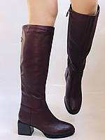 Натуральный мех.Зимние сапоги на среднем каблуке. Натуральная кожа. Люкс качество. Polann. Р. 36-40., фото 3