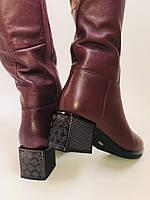 Натуральный мех.Зимние сапоги на среднем каблуке. Натуральная кожа. Люкс качество. Polann. Р. 36-40., фото 8