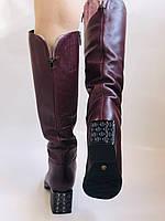 Натуральный мех.Зимние сапоги на среднем каблуке. Натуральная кожа. Люкс качество. Polann. Р. 36-40., фото 7
