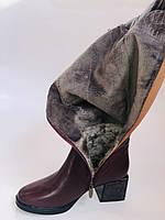 Натуральный мех.Зимние сапоги на среднем каблуке. Натуральная кожа. Люкс качество. Polann. Р. 36-40., фото 10