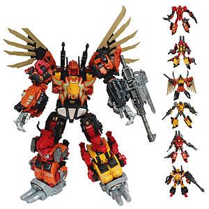 Робот-трансформер Предакинг комбайнер 6в1,  44 см - Predaking, Oversized, KO