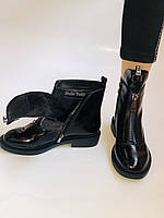 Женские осенние ботинки на низкой подошве. Натуральная кожа. Люкс качество.Stalo Totti Р. 38.  40, фото 4