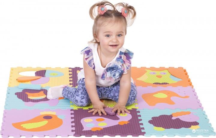 Детский коврик-пазл 92см*92см Веселый зоопарк  GB-M129А2