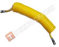 Шланг причепа спіральний жовтий (М16х1.5) 7м Туреччина NAYA (РЕ) поліетилен